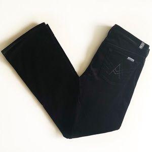 7FAM Black Velvet A Pocket Pants Sz 30